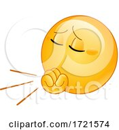 Poster, Art Print Of Emoji Smiley Emoticon Coughing