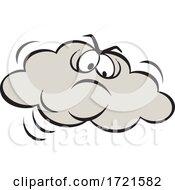 Poster, Art Print Of Cartoon Angry Cloud
