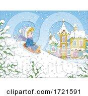 09/09/2020 - Boy Snow Sledding
