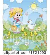 Little Girl With Ducks