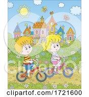 Poster, Art Print Of Children Riding Bikes