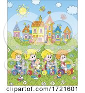 Poster, Art Print Of Children Playing On A Train