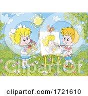 Poster, Art Print Of Children Painting