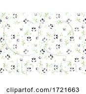 Seamless Panda And Bamboo Background