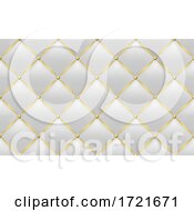 Tufted White Leather And Gold Background