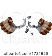 Hands Breaking Chain Shackles Cuffs Freedom Design by AtStockIllustration