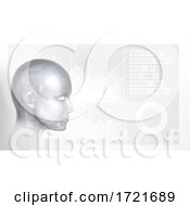 Poster, Art Print Of Technology Artificial Intelligence Face Background