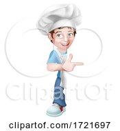 Poster, Art Print Of Kid Cartoon Boy Chef Cook Baker Child Sign