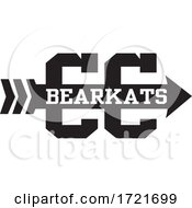 BEARKATS Team Cross Country Running Arrow Design In Black And White