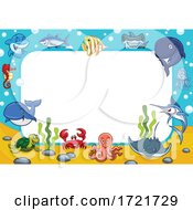 Border Of Sea Creatures