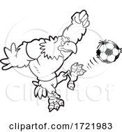 Bald Eagle Soccer Mascot Kicking by Johnny Sajem