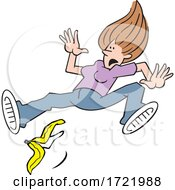 Woman Slipping On A Banana Peel