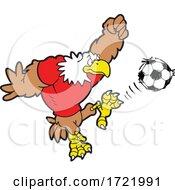 Bald Eagle Soccer Mascot Kicking