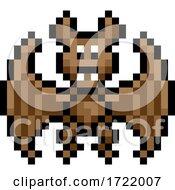Halloween Vampire Bat Pixel Art Game Icon