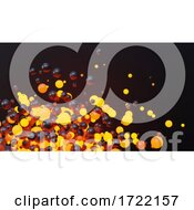 3d Fiery Molten Orange Spheres In A Cloud Of Heat