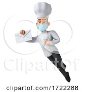 3d Young White Male Chef On A White Background