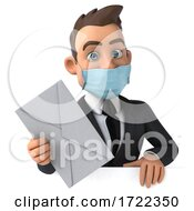 3d White Business Man On A White Background