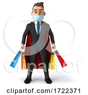 3d Super White Business Man On A White Background