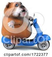Poster, Art Print Of 3d Bulldog On A White Background