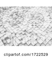 3D Abstract Landscape With Extruding Blocks