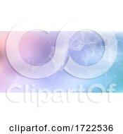 Banner With Low Poly Plexus Design