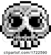Halloween Skull Pixel Art Eight Bit Game Icon