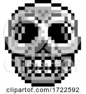 Halloween Skull Pixel Art Game Icon
