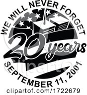 9 11 Memorial Patriot Day September 11 2001 20 Years Tribute Retro Black And White