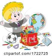 09/22/2020 - School Boy With Supplies