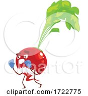 Poster, Art Print Of Exercising Radish Or Beet Character