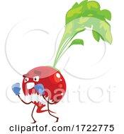 Exercising Radish Or Beet Character