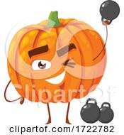 Exercising Pumpkin Character by Vector Tradition SM