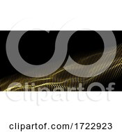 Abstract Background With Flowing Waves Of Particles Design