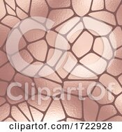 Abstract Rose Gold Foil Texture Pattern