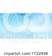 Medical Banner With Hexagonal Design And DNA Strand