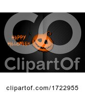 Hallowen Background With Pumpkin Jack O Lantern