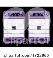 Halloween Purple Blank Decorated Bingo Cards