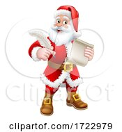 Santa Claus Quill Pen Scroll Letter Cartoon