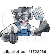 Wolf Gardener Gardening Animal Mascot