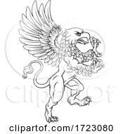 Griffin Rampant Gryphon Coat Of Arms Crest Mascot
