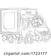 Man Driving A Moving Van