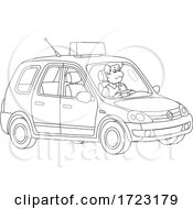 Man Driving A Taxi