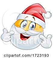 Poster, Art Print Of Santa Claus Emoji Pointing At Himself
