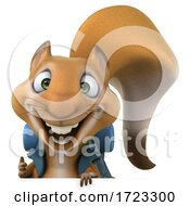 Poster, Art Print Of 3d Hiker Squirrel On A White Background
