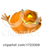3d Jackolantern On A White Background