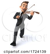 3d White Businessman On A White Background