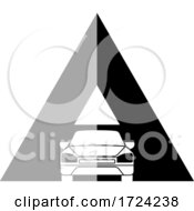 Grayscale Car Letter A Logo