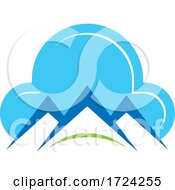 Poster, Art Print Of Cloud And Mountain Peaks Logo