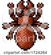 Ant Bug Insect Pixel Art Video Game 8 Bit Icon