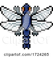Dragonfly Bug Insect Pixel Art Video Game Icon